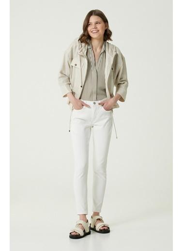 NetWork 1079946 Kadın Slim Fit Jean Pantolon Beyaz